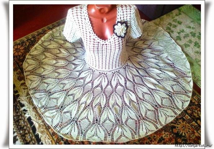 Qué lindo vestido!! | Crochet y Dos agujas - Patrones de tejido
