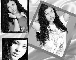 Adicione 3 foto em uma moldura em preto e branco