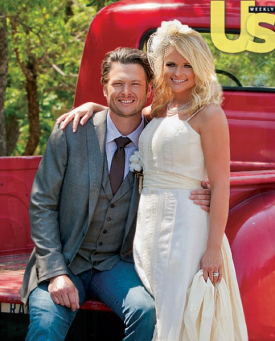 miranda lambert s wedding dress with americana flair