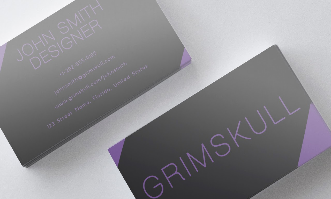 Classy Purple Business Card Template