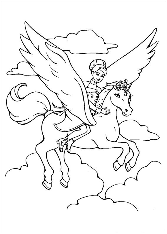 princess horse coloring pages - photo#18