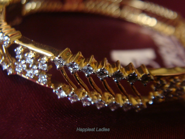 Diamond Bangle from Abharan Jewellers+diamond bangles