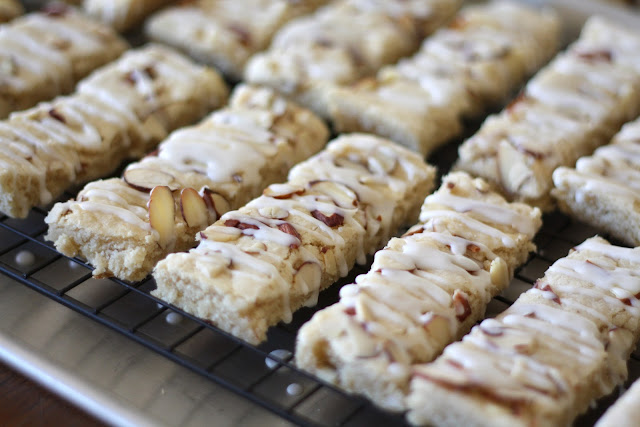 Scandinavian Almond Bars recipe by Barefeet In The Kitchen
