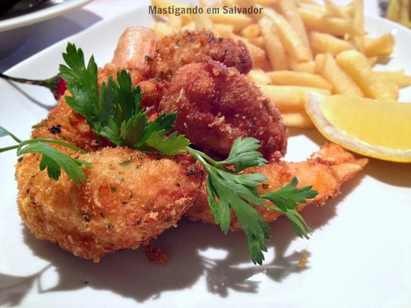 Marfino Restaurante: Camarões à Moda Grega com Batatas Fritas