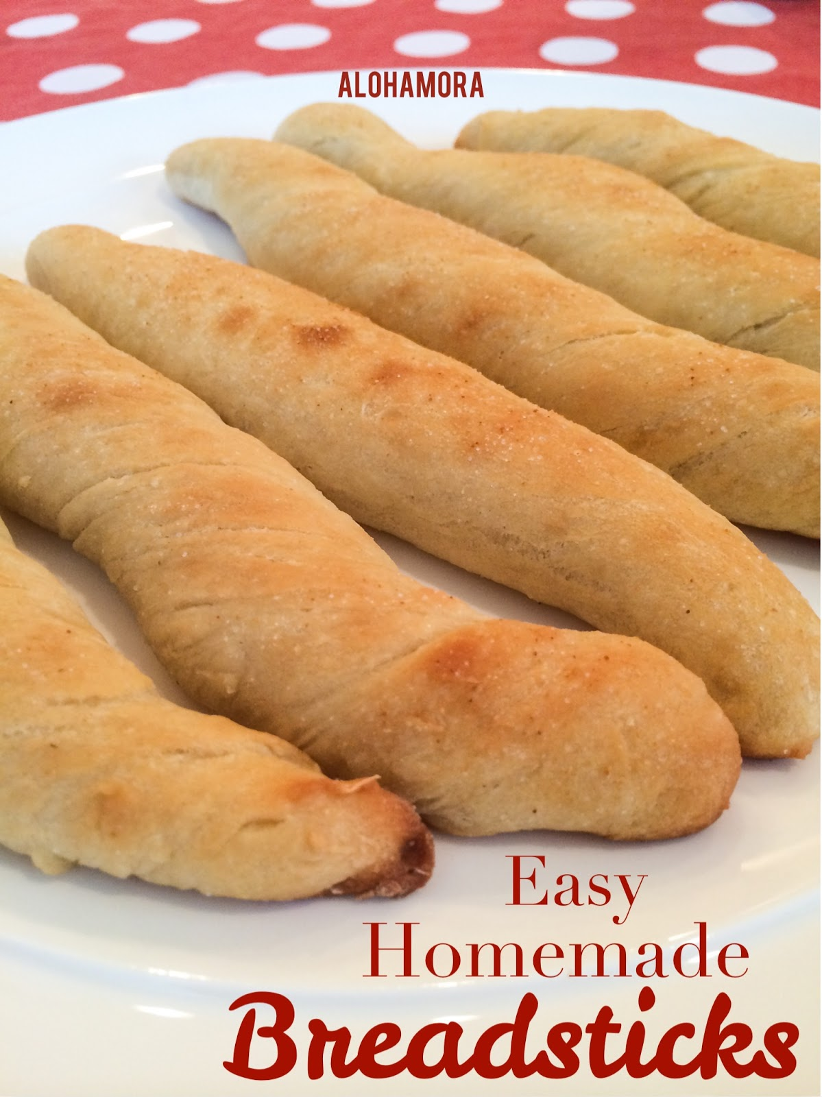 Easy Homemade Breadsticks.  Quick and easy to make, and the perfect side for lasagna, pasta, or anything really.  Makes a great weeknight sidedish/bread. Alohamora Open a Book http://www.alohamoraopenabook.blogspot.com/