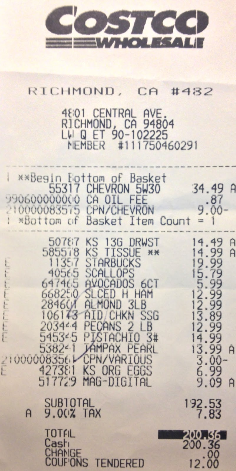 Final shopping receipt of 2010 - SAUK Discussion Board