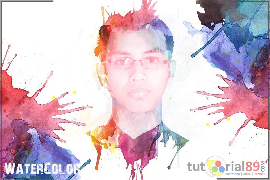 Cara membuat efek waterColor dengan photoshop | Tutorial89