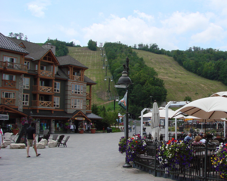 Blue Mountain Ski Resort in Ontario, Canada.