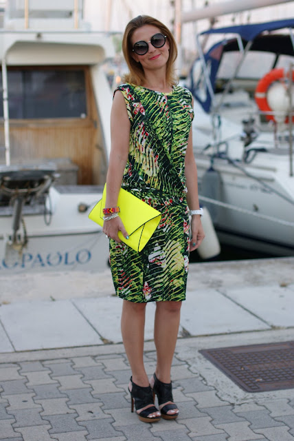 Kenzo Jungle print dress, Lanvin sandals, Fashion and Cookies