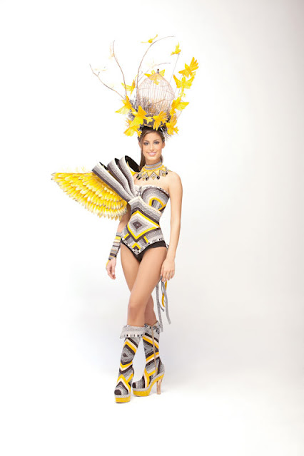 Srta. Colombia 2011-2012. Desfile en traje artesanal Sucre: Helena Sofía Fadul Bolaños
