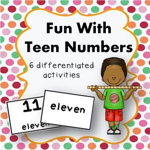 https://www.teacherspayteachers.com/Product/Fun-with-teen-numbers-6-differentiated-activities-for-K-1-2168822