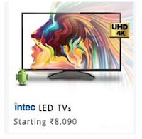 Snapdeal : Intec Televisions starting from Rs. 8090 : Buytoearn