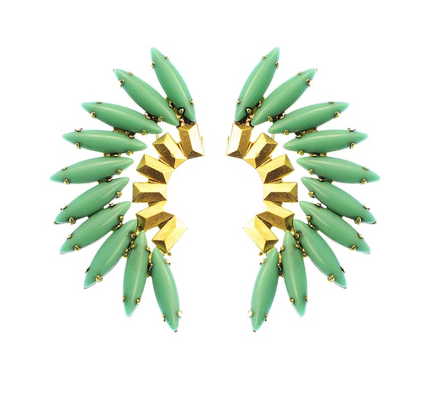 Elizabeth Cole Turquoise Tiberia Earrings Shop The Loupe