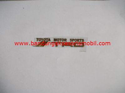 Emblem Alumunium Kecil Gold TRD Toyota Motor Sport