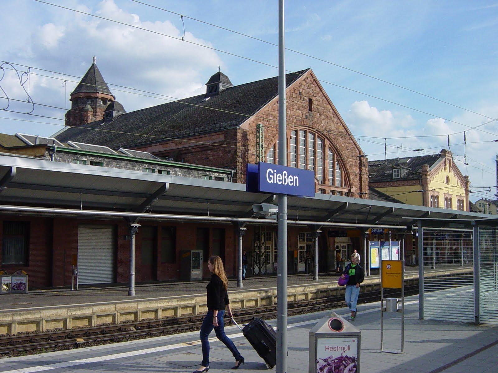 Railway Stations Germany Giessen Bahnhof Gie 223 En