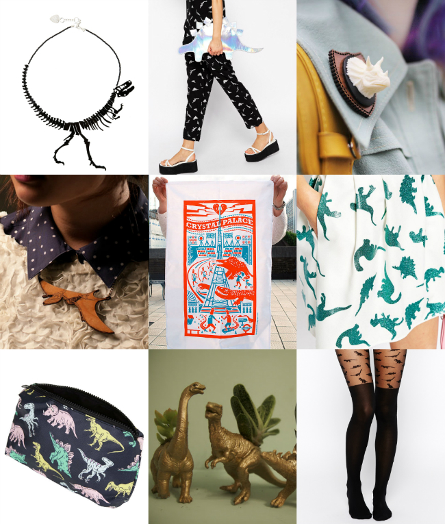 dinosaur wishlist blogger clutch necklace