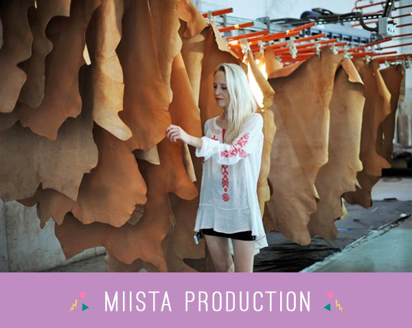Miista shoes production - leather warehouse
