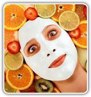 Mascarillas de fruta para la piel
