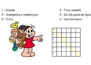 Atividades Alfabetização - Cruzadinhas da Turma da Mônica 4