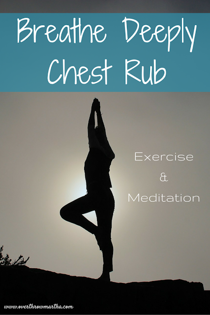 breathe deeply chest rub for exercise