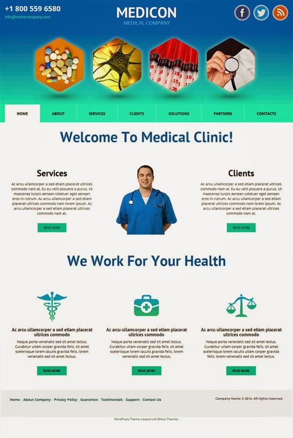 Medicon - Free Wordpress Theme