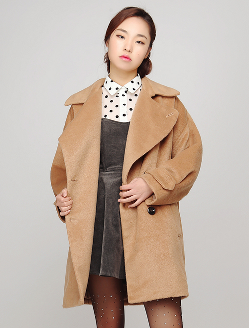 Gossip Girl Wide Collar Soft Touch Coat