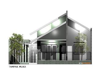 Desain Rumah Mungil di Lahan 10 x 10 M