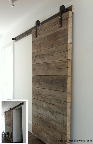 chunky horizontal slats created this door