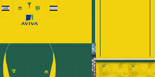 PES 2012 Norwich City 2012/13 Kits by Buffon99