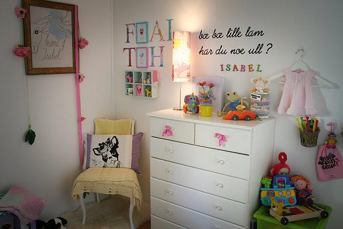 Marias skriblerier: barnerommet til snuppa og endelig frisk!!!