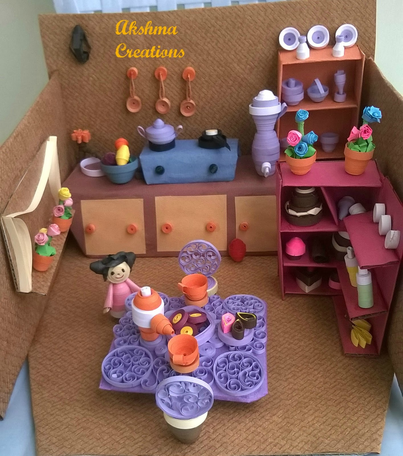 creative crafts and quilling mini quilled kitchen