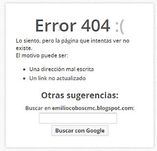Crear una página de error 404