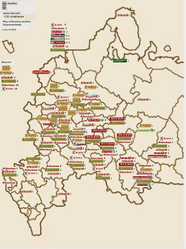 Retail maps from CIS and Baltic