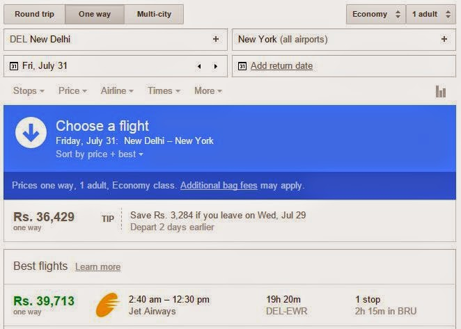 Google Flights optimized results - Technocratvilla.com