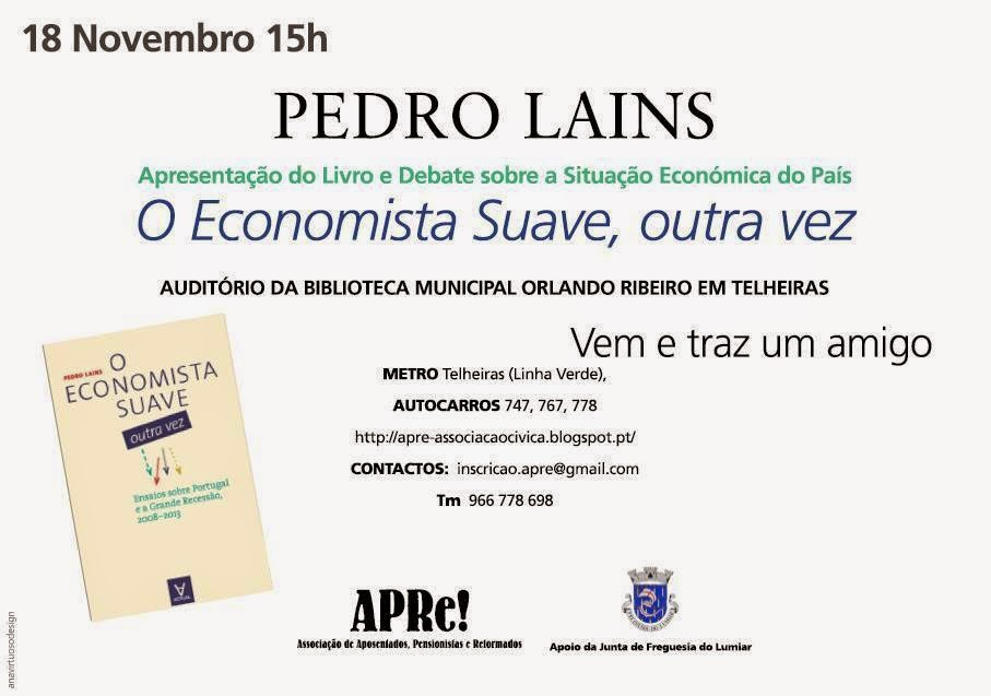 Lisboa, debate com Pedro Lains