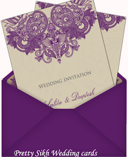 Pretty Sikh Wedding cards
