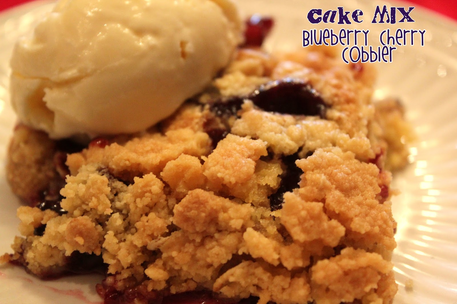 Fresh Cherry Cobbler With Cake Mix