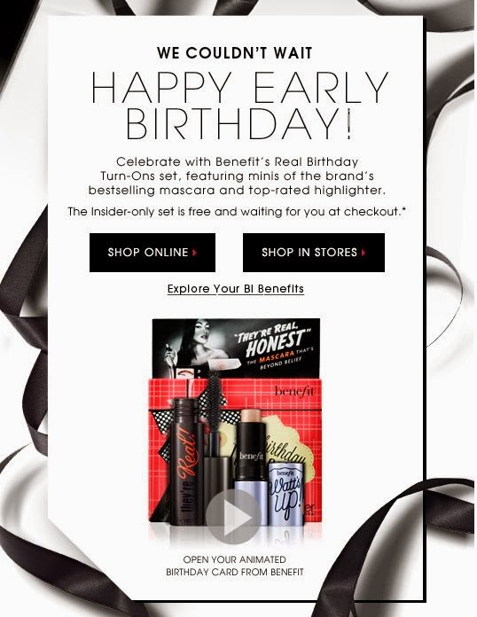 Happy Birthday Beauty Insider from Sephora and Benefit Cosmetics