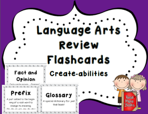 http://www.teacherspayteachers.com/Product/Language-Arts-Flashcards-in-Rainbow-Colors-CCSS-720639