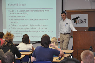 Polk County District Attorney William Lee Hon returns to SHSU to teach a class in child abuse and neglect.