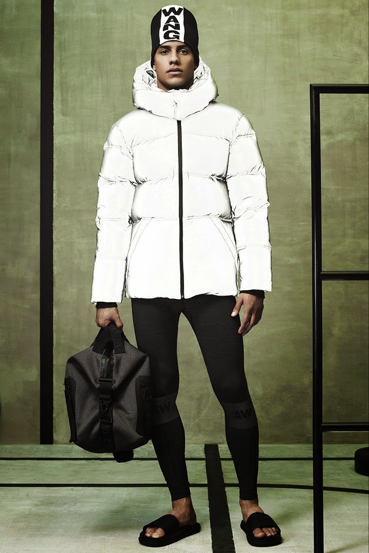 Collection Hommes Alexander Wang x H&M 2014 neoprene sportswear doudoune blanche legging bonnet