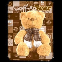 Jual Selimut Kendra Soft Panel Blanket Coffee Bear