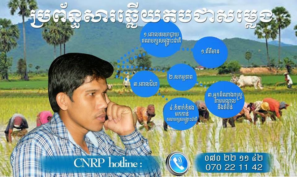 CNRP hotline