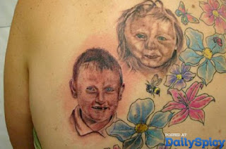 failed tattoo: two ugly children