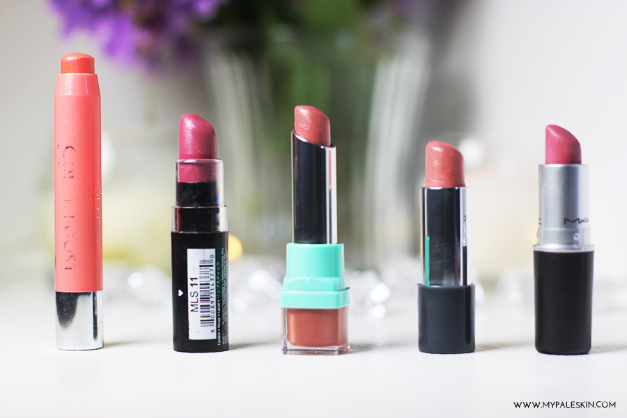 Best lipsticks for pale skin, fair skin, lipstick, best, top 5, selection, picks, my pale skin review, swatch