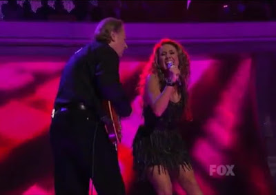 Haley Reinhart Led Zeppelin American Idol Top 3 dad guitar fringe