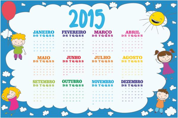 Calendários 2015 personalizados no Excel para diversos fins de uso ...