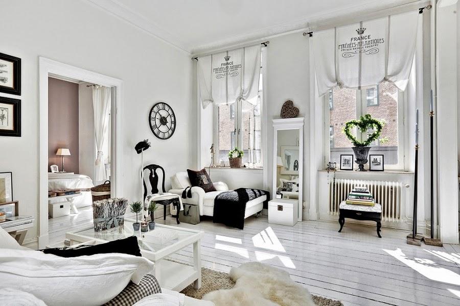 białe wnętrze, styl skandynawski, wiklinowy koszyk, ratanowy koszyk, salon, szezlong, zegat