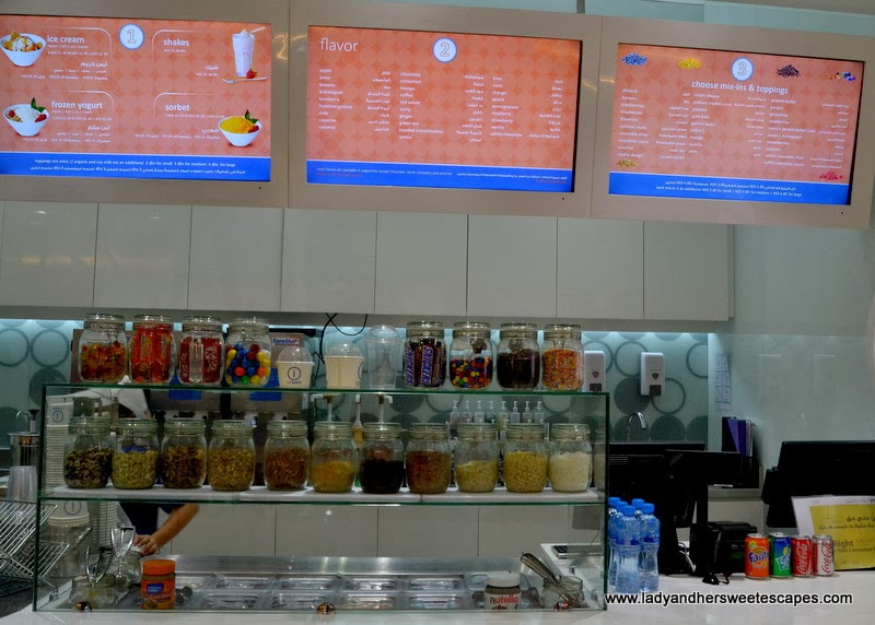 Choices, Flavors and Mix-ins at iCream Cafe