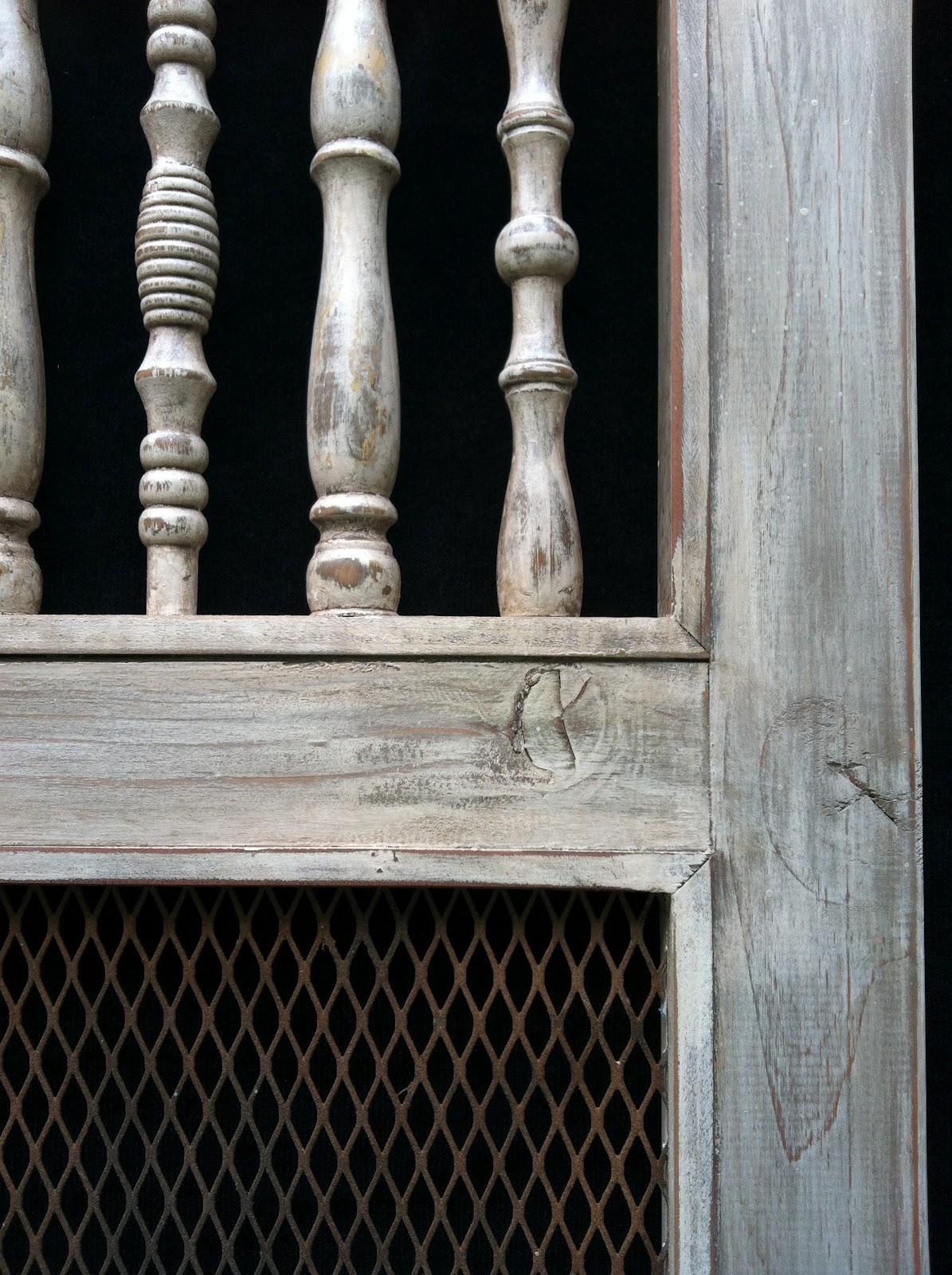 Handcrafted custom swinging saloon doors - Distressed Spindle Saloon Doors